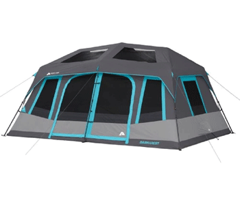 ozark trail 10 person dakr rest tent